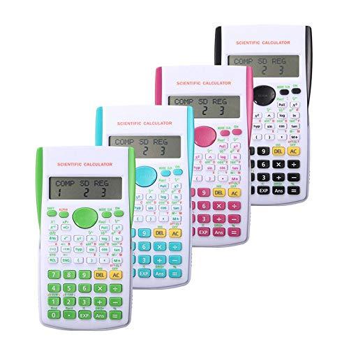 Tedlku Elektronische rekenmachine, wetenschappelijke rekenmachine, multifunctioneel, draagbaar, 12 digitale tellers, kantoor, thuis, studenten, verzorgingsfunctie, kleur karamel Blanco Y Gris