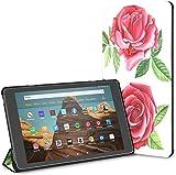 Estuche para Set Red Pink Glorious Romantic Rose Fire HD 10 Tablet (9.a / 7.a generación, versión 2019/2017) Fundas y Carcasas para Kindle Hd10 Estuche para Lector electrónico Kindle Auto Wake/slee