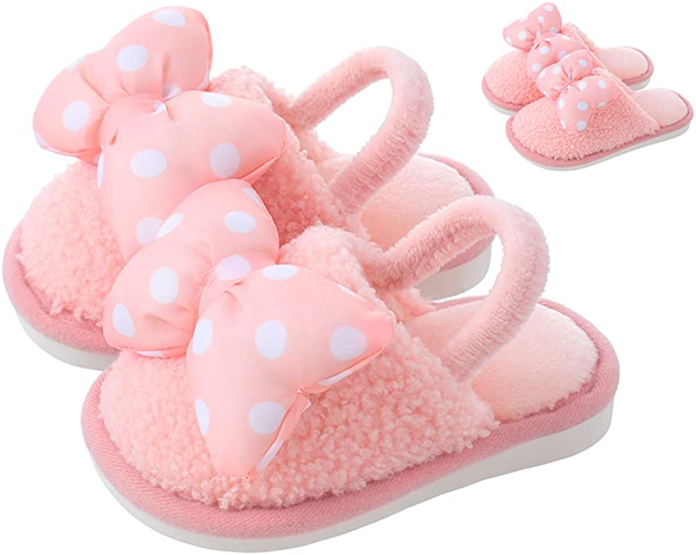 Kids Rare Slippers Cute Bow Dot Indoor Boys H for Shoes Girls Toddler Special price for a limited time