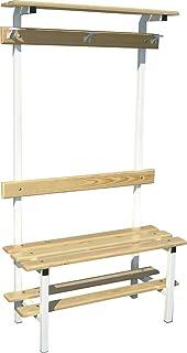 Softee - Banco vestuario sencillo c/zapatillero percha/estante superior