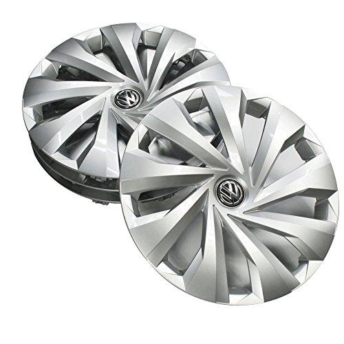 Volkswagen 2G0071455 wieldoppen 15 inch wieldoppen zilver (4 stuks) wieldoppen stalen velgen