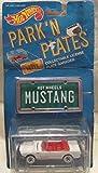 Hot Wheels 1988 Mattel Park 'N Plates 65 Mustang Convertible License Plate Garages