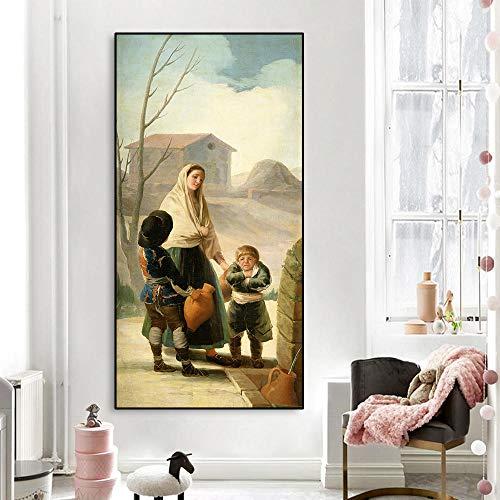 Kunstwerk foto in olieverfschilderij Chinees schilderij wanddecoratie moderne woonkamer decoratie