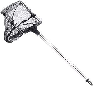 Fan-Ling Professional Shrimp Fishing Net,Durable Portable Telescopic Safe Shrimp Net for Fish Tank,Black,22 x 7.5 x 1cm