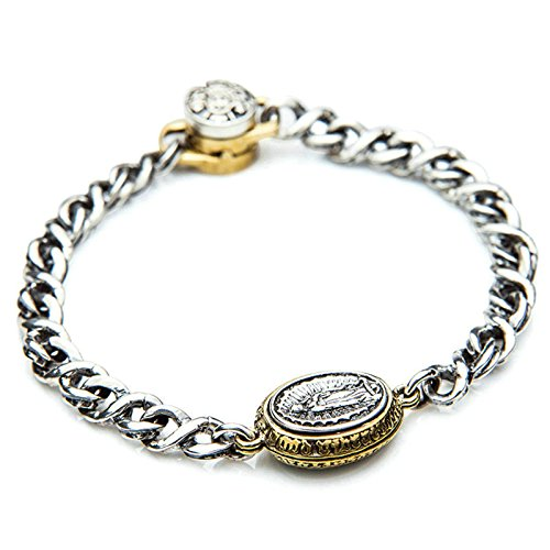 Photo of AnazoZ S925 Sterling Silver Retro Punk Style Chain Bracelet Link 21CM