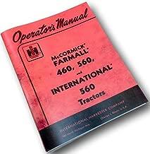 International Farmall Gas 460 560 Tractor Operators Owners Manual Ihc Ih Lube