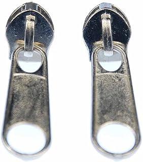 Miniblings Reißverschluss Zipper Ohrstecker Zip Upcycling 80s silber rund - Handmade Modeschmuck I Ohrringe Stecker Ohrschmuck