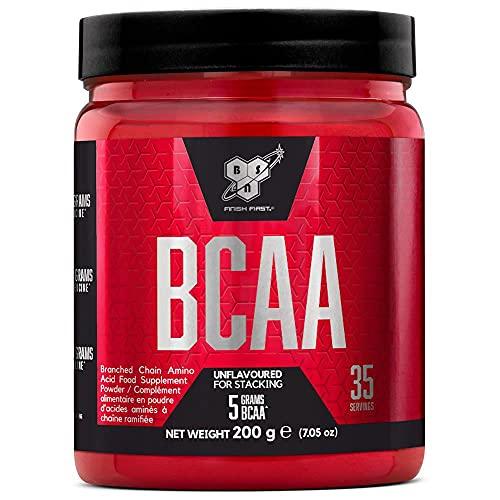 BSN DNA BCAA, Aminoácidos Esenciales en Polvo, Nutrición Deportiva, Sin Sabor, 35 Porciones, 200 g