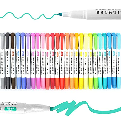 25 Pack Highlighters Assorted Colours Pastel,Mild Colors Bible...