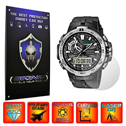 X-Skinz, 1 Set mit 4 Displayschutzfolien für Casio Pro Trek PRW-6000 – Vollständige Displayabdeckung für Smartwatch, unsichtbar, ultra-klar, selbstheilende Folie mit gebogener Passform und Vollkleber.