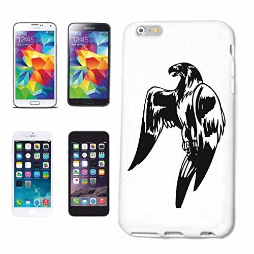Bandenmarkt telefoonhoes compatibel met iPhone 7+ Plus roofvogel vogel adelaar Falke Wildlife Zoo Park Hardcase beschermhoes mobiele telefoon cover Smart Cover