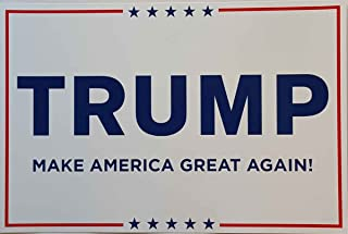 Donald Trump for President 2016 Campaign Poster Sign White