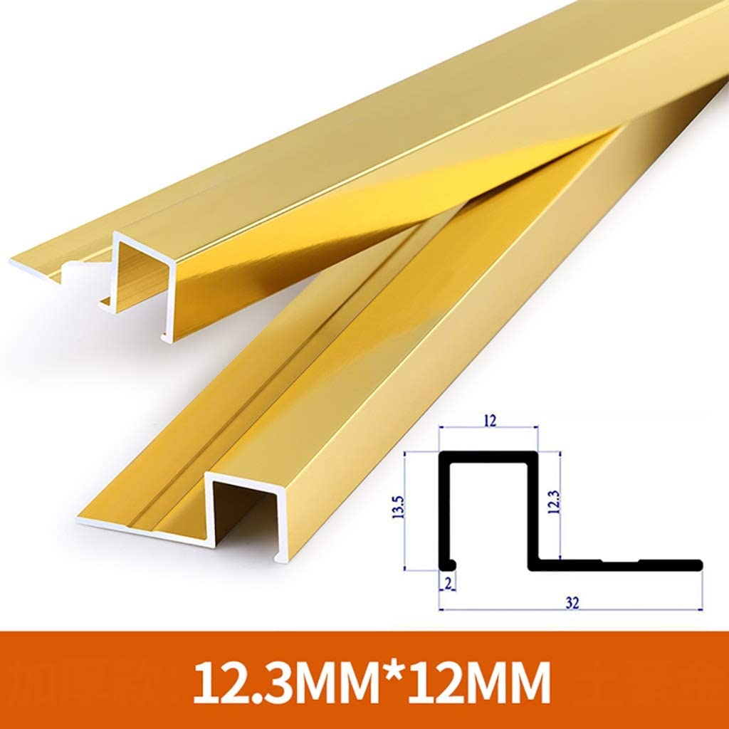 GWXFHT Building Products Aluminum Alloy External Angle Edge Strip Non-Slip Thickened Threshold Protection Strip Color : D L800MM 3 Packs Wall and Brick Floor Trim Edge Strip