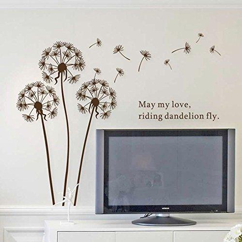 Walplus Dandelion - Adhesivos Decorativos de Vinilo, diseño de Diente de león