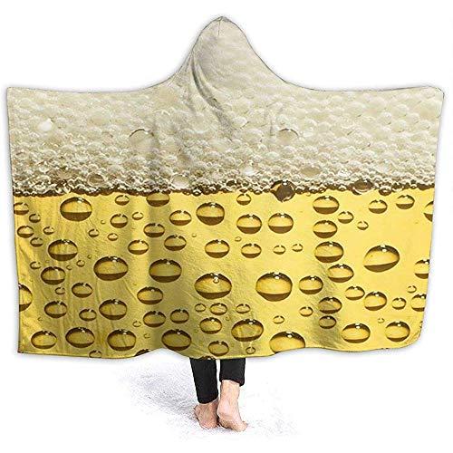 Darlene Ackerman(n) Bier Kapuze Throw Wrap Weiche Flanell Kapuze Decke Hoodie Decke Premium Kapuze Robe Kapuze Sherpa Decke