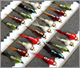 ARC Fishing Flies 25 Fliegenfischen Fliegen Flash Back Nymphe Summer Haken zufällige 102