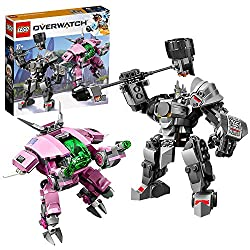 Build LEGO versions of 2 highly popular Overwatch characters from the team-based action game, including a buildable version of Reinhardt's massive Rocket Hammer Includes Overwatch tank heroes D.Va and Reinhardt, and minifigure versions of each charac...