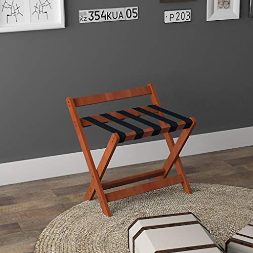 Review Of Folding Luggage Rack Solid Wood Luggage Rack Portable Hotel Special use Folding Suitcase S...