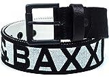 Cipo & Baxx Herren Gürtel-schwarz Shrift-weiß C-2133 100cm x 4,7cm