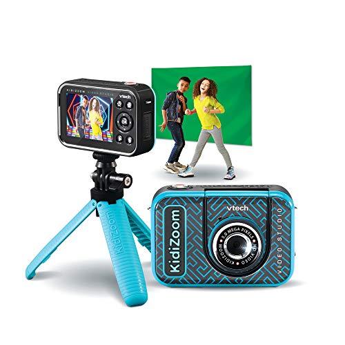 VTech 80-531884 KidiZoom Video Studio HD Kinderkamera, blau