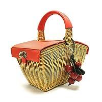 [ケイトスペード]kate spade ピクニック 3D ウィッカー ピクニック バスケット PXRUB410 245 レレディース ハンドバッグ かごバッグ オレンジ [並行輸入品]