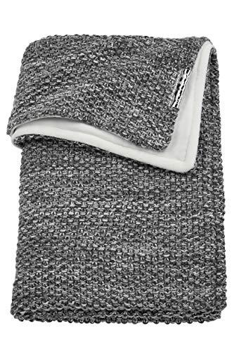 Meyco 2754080 Ledikantdeken relief mixed met velvet, 100x150 cm, grijs