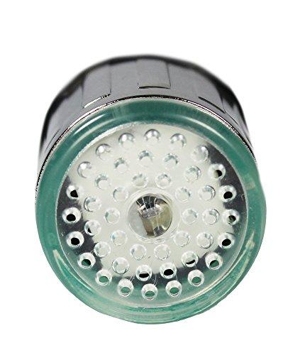1 X dizauL® bunte LED Wasserhahn Leuchtender LED Licht Wasserhahn mit Temperatursensor Farben(Grün/Rot/Blau),Wasser-Strom-Hahn 3 Farben durch Wasserdruck (bunten LED Wasserhahnfilter) - 2