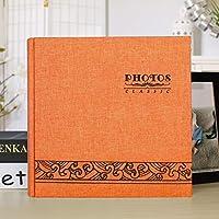 キッズラバーズファミリーのための200枚の写真スリップ6インチメモフォトアルバムメモリノートブック画像挿入アルバムを保持します, 素敵なひとときを過ごすのにぴったりのフォトアルバムになります。,Orange