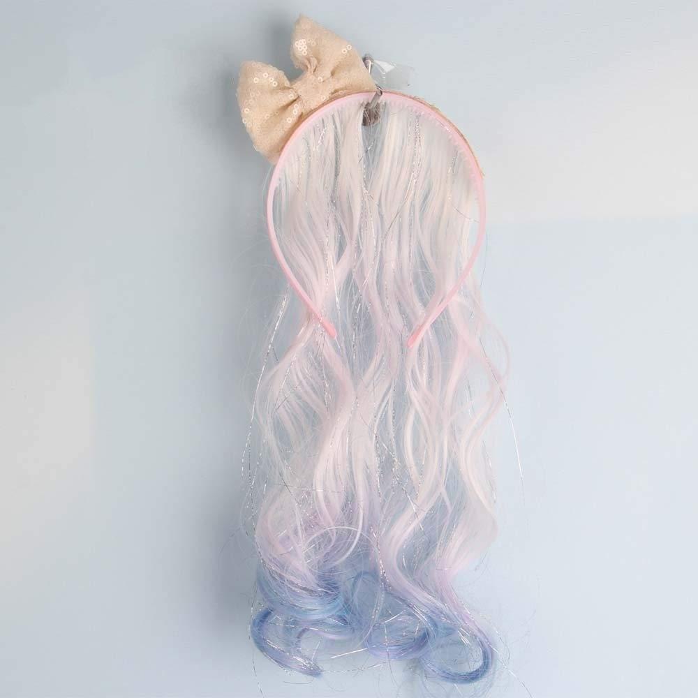 Dulce Bowknot Body Ondulado Colorido Hairband Pelucas Accesorios Color Caramelo for niñas Cosplay Fiesta Anime Peluca sintética (Bulk Buy : 9Pcs/Lot, Color : #1-12inches): Amazon.es: Hogar