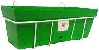 وعاء زراعة منترا -أخضر-50سم بحامل للبلكونة