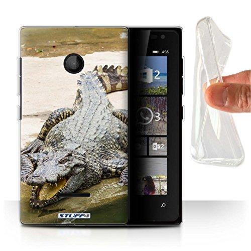 Hülle Für Microsoft Lumia 435 Wilde Tiere Krokkodil/Alligator Design Transparent Dünn Flexibel Silikon Gel/TPU Schutz Handyhülle Case
