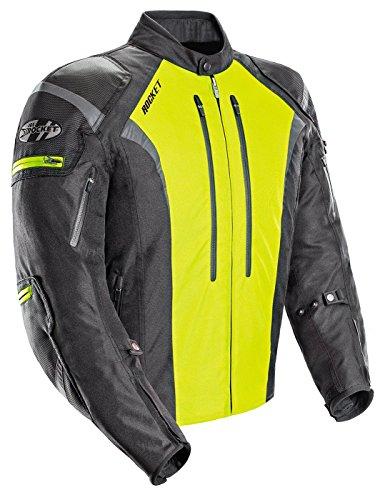 Joe Rocket Atomic Men's 5.0 Textile Motorcycle Jacket (Hi-Viz, Large)