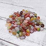 DENGZ Piedra de decoración Piedras de Colores Mezclados para macetas de Acuario Rellenos de jarrones de jardinería Accesorios Decorativos Natural, 1.6 * 2cm 200g, Piedra Colorida