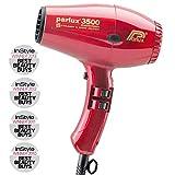 Parlux 3500 Super Compact Secador de pelo de cerámica con iones, 2000 W, Rojo