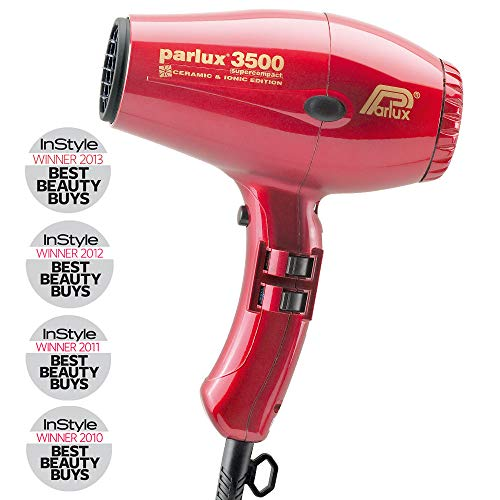 Parlux 3500 C + I Red - Secador iónico ultracompacto, ceramic, color...