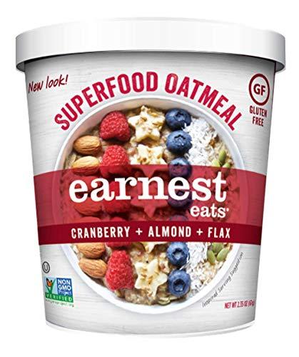Earnest Eats Gluten-Free Superfood Oatmeal, Quinoa, Oats & Amaranth, Vegan, Healthy Snack, American Blend, 2.35oz Cup, 12-Pack (00091773)