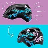 Fahrradhelm mit licht für Kinder - und Jugendliche   Größe 54-58 I Ansprechender Kinder-Fahrradhelm für Jungs und Mädchen I Aufladbares LED-Licht I Reflektierende Gurtbänder I CE Zertifiziert - 3