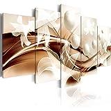murando - Cuadro en Lienzo 100x50 cm Abstracto Impresión de 5 Piezas Material Tejido no Tejido Impresión Artística Imagen Gráfica Decoracion de Pared Arte Flor b-A-0226-b-o