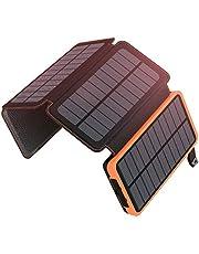 ADDTOP HI-S025 Przenośny Solarny Powerbank, 25 000 mAh, 4 Panele Słoneczne, 2 Porty USB, Wodoszczelny Zewnętrzny Akumulator