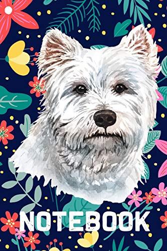 Notebook: Notizbuch liniert für West Highland White Terrier Hundebesitzer - 120 Seiten, 6x9 - Hund Journal Planer für Herrchen und Frauchen