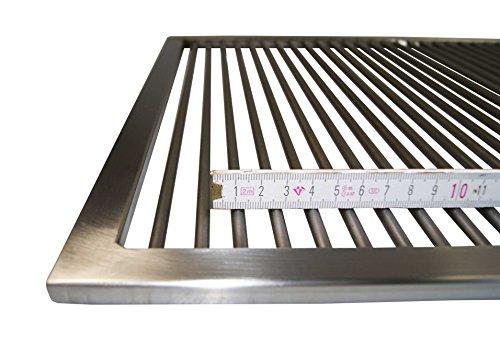AKTIONA Grillrost aus Edelstahl 1.4301 nach Maß/nur 9 mm Abstand Stab zu Stab/Umfang: 1-340 cm/Maßanfertigung, (1-150 cm)
