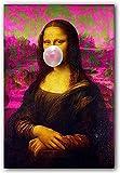 Crazystore Gemälde 70x90cm ohne Rahmen Abaabul Mona Lisa