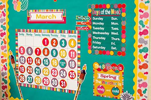 Teacher Created Resources (2685) Tropical Punch Calendar Bulletin Board Photo #3