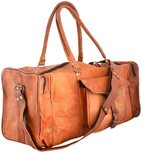 PRASTARA Handicraft Leather Travel Bag and Luggage | Best Quality Gym and Sports Bag