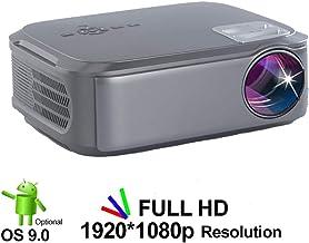 Full HD 1080P proyector T58 Android 9.0 Wifi LED Proyector del teatro casero HDMI PC del videojuego móvil Proyector de Beamer para el Ministerio del Interior