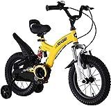 ZSY Bicicletas Bicicletas para niños, Bicicleta para niños 2 a 10 años Muchos y niñas Bicicleta Deportes al Aire Libre Bicicleta Estudiante para niños Bicicleta (Color: Amarillo, Tamaño: 16in)