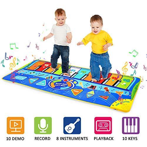 m zimoon Musik Matte, Klavier Matte tanzmatten tragbare multifunktions musikalischer Teppich Tastatur Spielmatte für Kinder Jungen mädchen (127 * 47 cm)