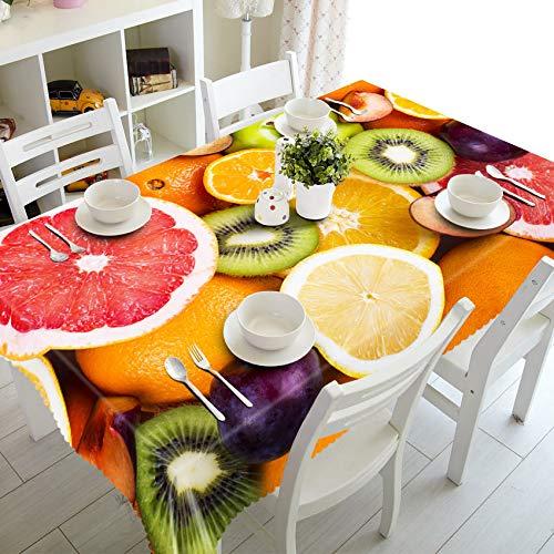 XXDD Mantel de Restaurante Pastoral 3D sandía patrón de Pomelo Impermeable Rectangular Mantel para Fiesta Banquete variación A4