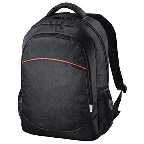 """Hama Laptop-Rucksack """"Tortuga Public"""", für Laptops bis 44cm (17,3"""") (gepolstert, mit Laptopfach, Tragegriff, Seitentaschen und Vorderfach mit Netzfächern) Notebook Backpack schwarz"""