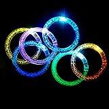 ZNME66 LED Armband 12er-Set Leuchtarmband Armreif Blinkleuchte Armbänder Leuchtband für Party...